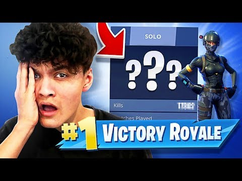 *EXPOSING* My Little Brothers STATS!! LOOK HOW MANY WINS HE GOT ON FORTNITE!