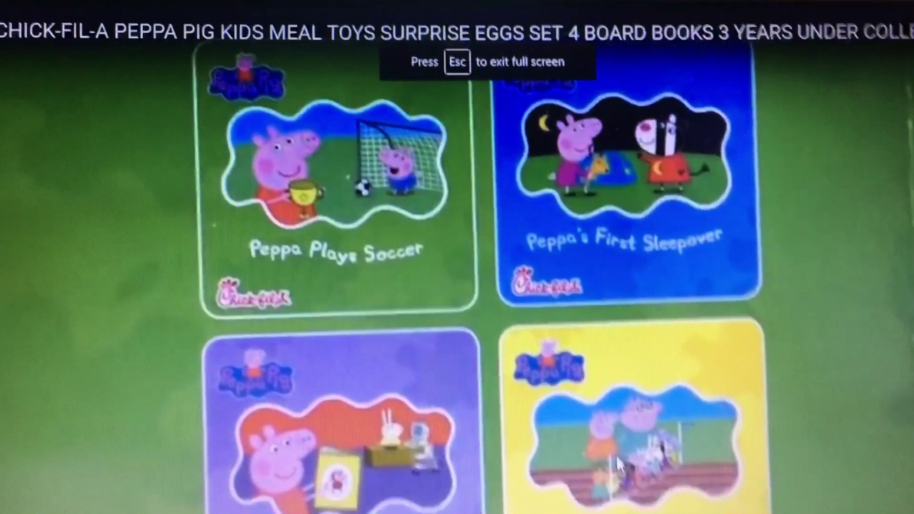 Peppa Pig Books In Chick Fil A In Theathers Febuary 13th Wrid Of Pg 13 In 2d This Valentines Day