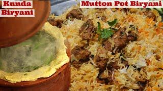 Mutton Biryani in Pot  - Kunda Mutton Biryani Recipe, Hyderabadi Mutton Biryani, Matka Lamb Biryani