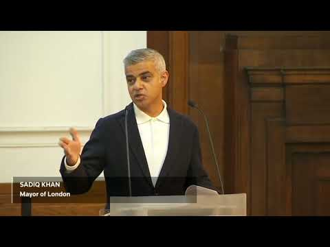 Trump supporters disrupt speech by London Mayor Sadiq Khan