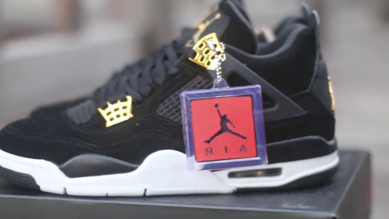 "25edb5887ff5a4 Updated Video--Air Jordan 4 Retro ""Royalty"