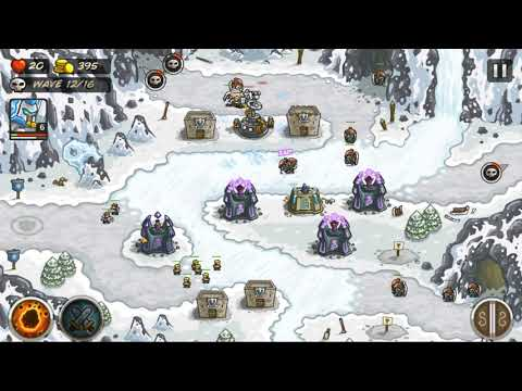Kingdom Rush Level 18 - Glacial Heights |