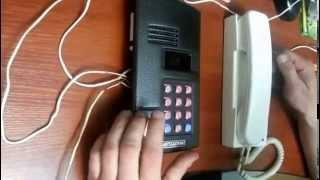 Програмування домофона МК2003.2 Відключення абонентів.