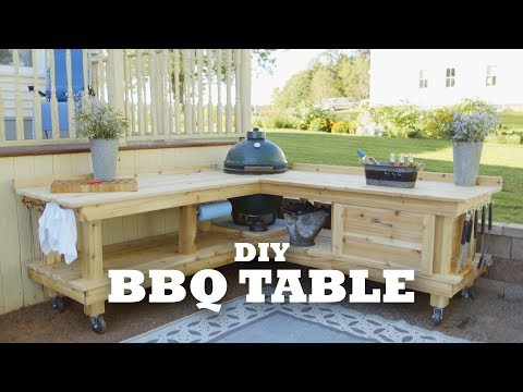 DIY Backyard BBQ Table