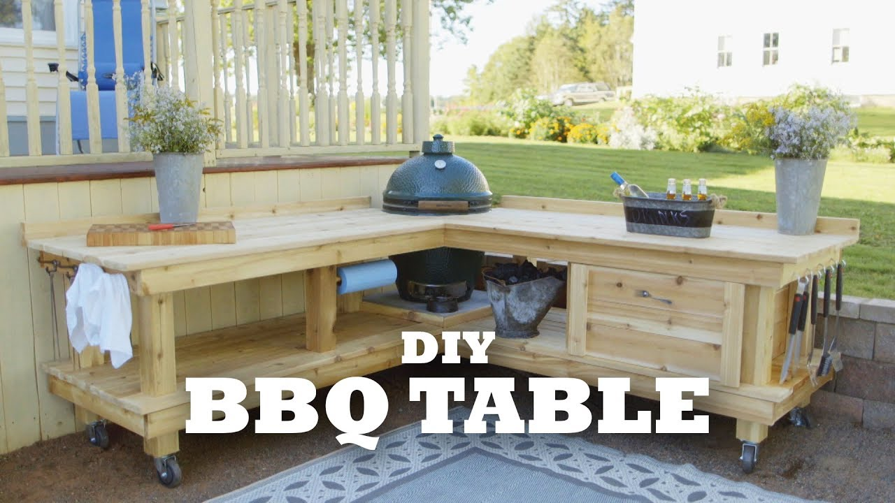 Diy Backyard Bbq Table Youtube