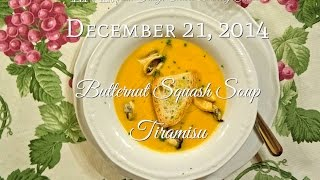 Live From Italy Online Cooking Class Sunday, December 21st 2014 (butternut Squash Soup & Tiramisu)