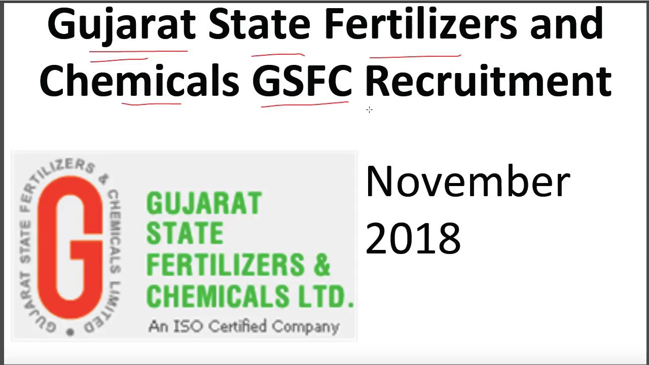Gujarat State Fertilizers and Chemicals GSFC Recruitment / sarkari naukri /  Govt Job