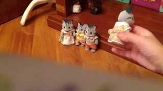 моя семья серых котят Sylvanian Families