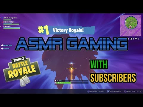 ASMR Gaming | Fortnite High Explosives With Subscribers! (20th Win) ★Controller Sounds + Whispering☆