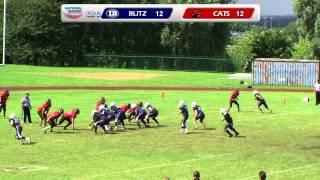 London Blitz Juniors v Cambridgeshire Cats Juniors - Junior Contact Quarter Final - 5th August 2012