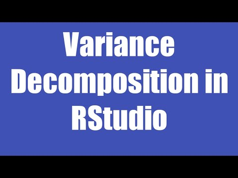 19. Variance Decomposition In Rstudio