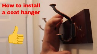 Small spaces: Installing a coat rack