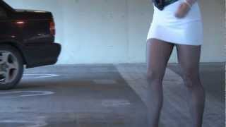 Repeat youtube video Long Sexy Legs in SHort Skirt Getting In Car