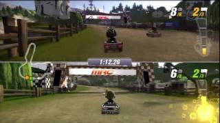 Split Screen 1 - ModNation Racers Gameplay