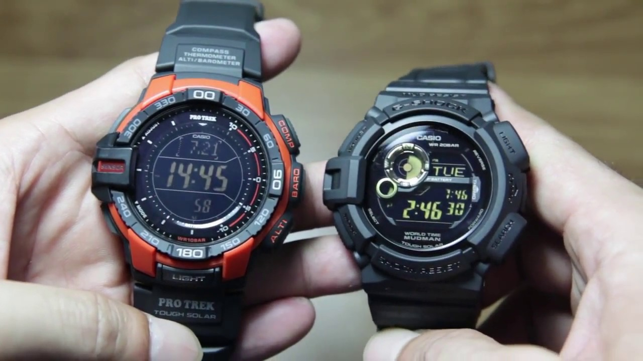 Head to head Casio Protrek PRG-270-4 vs G-shock G-9300GB-1 - YouTube 029d80a055