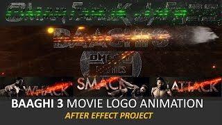 Baaghi 3 Movie Logo Animation After Effect Project | Cross Logo Animation |OMER J GRAPHICS