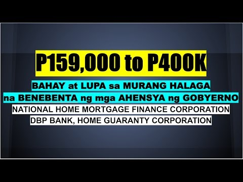 P159K And UP FORECLOSED HOUSE & LOT FROM GOVERNMENT HOUSING AGENCIES