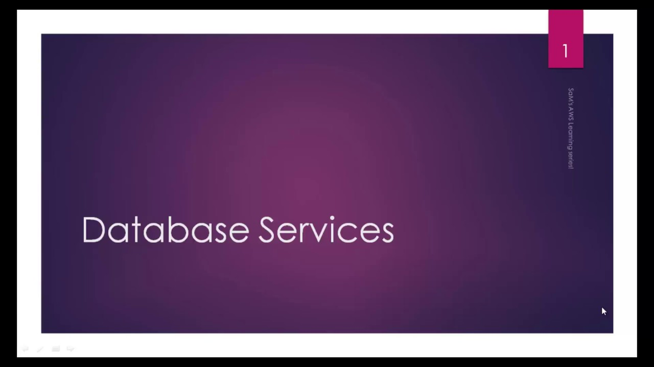 AWS tutorial-Part58:AWS Cloud Database Products-1st Intro Session
