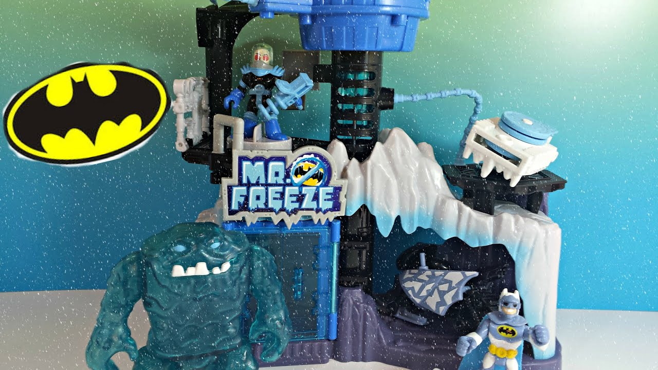 Imaginext D.C Super Freinds Mr.Freeze Headquarters Gift Set w ...