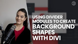 Using Divider Modules to Create Background Shapes with Divi's Transform Options