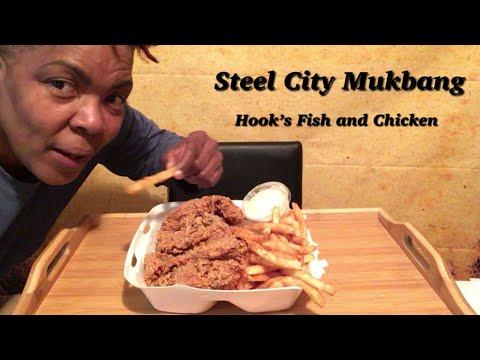 Steel City Mukbang Hook's Chicken Tenders