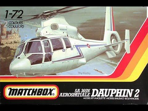 Matchbox 1/72 SA 365N Dauphin 2 Vintage InBox Review / Dobozbontás