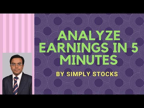 How To Analyze Quarterly Earnings of A Company in 5 Minutes.