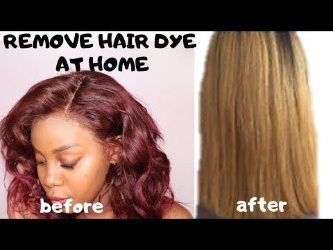 REMOVE ANY HAIR DYE FROM WEAVE-NO BLEACH USING BAKING SODA.