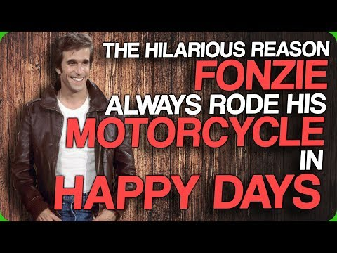The Hilarious Reason Fonzie Always Rode His Motorcycle In Happy Days