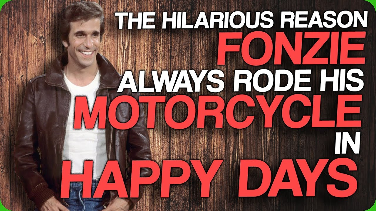 The Hilarious Reason Fonzie Always Rode His Motorcycle In Happy Days ... 41aa71100