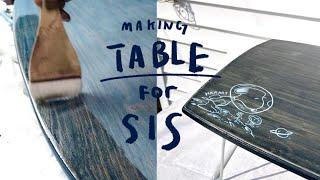 언니의 자취방 테이블 만들기 / 가구만들기 , 가구페인…