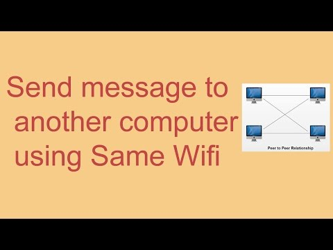 How to send popup message to another computer using the same WiFi