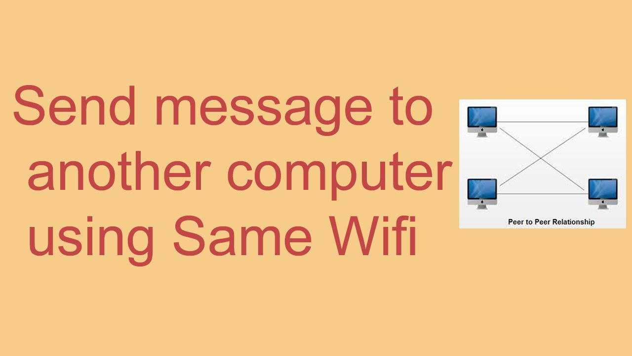 How to send popup message to another computer using the same WiFi | Free  tips by Kundanstech |