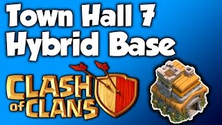 Clash Of Clans - TH7 HYBRID BASE BEST TOWN HALL 7 Defense With NEW AIR SWEEPER