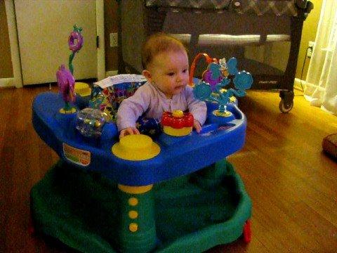 baby in exersaucer - YouTube