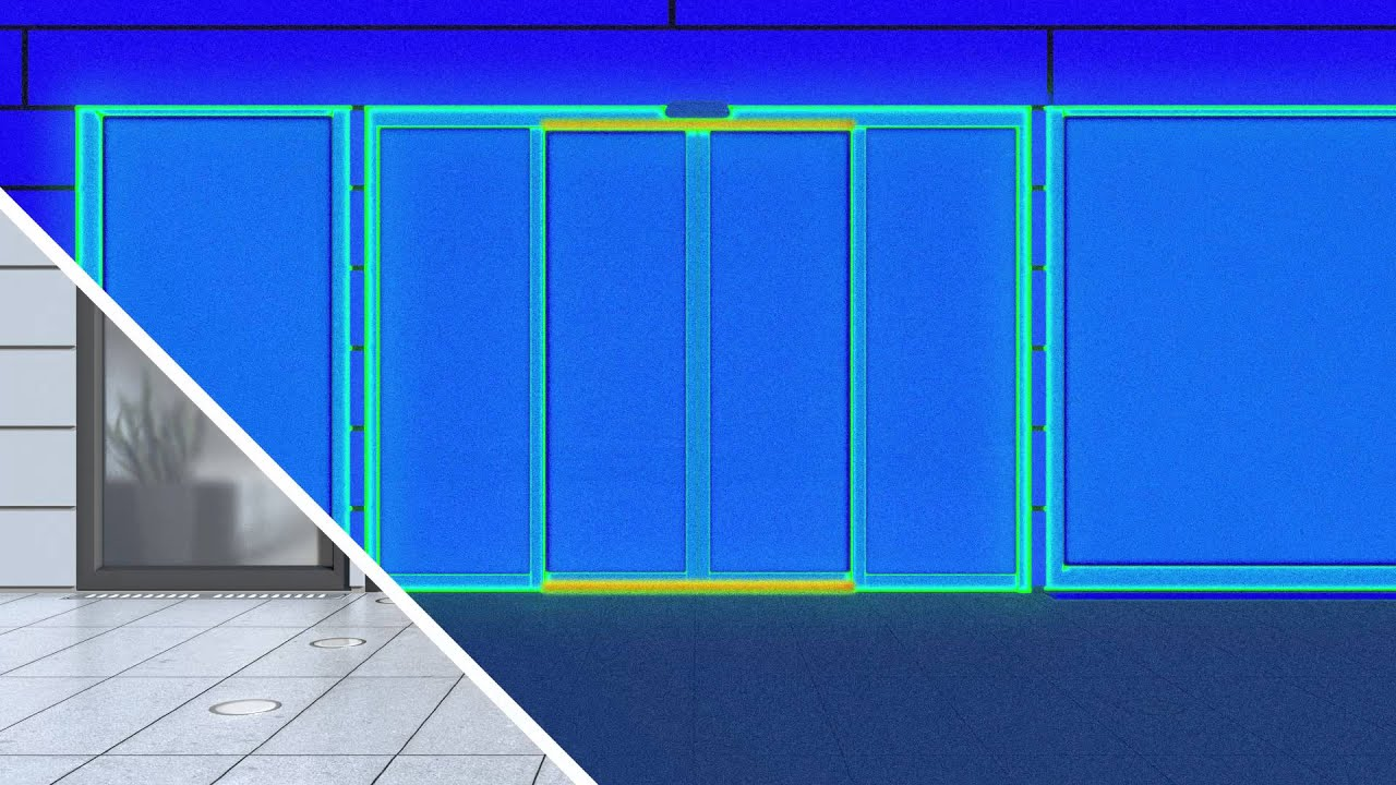 record THERMCORD+ automatic sliding doors with integral thermal insulation