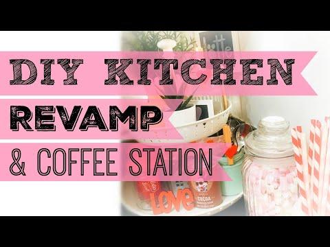 KITCHEN REVAMP & COFFEE STATION   Ikea & Poundland HACKS & DIY'S   Motivational Monday