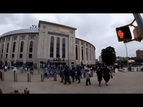 Cycling In NYC From Times Square, Manhattan To Yankee Stadium, Bronx During Rush Hour