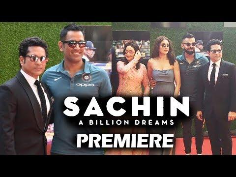 Sachin A Billion Dreams GRAND PREMIERE - Sachin Tendulkar, Anushka Sharma, Virat Kohli, MS Dhoni