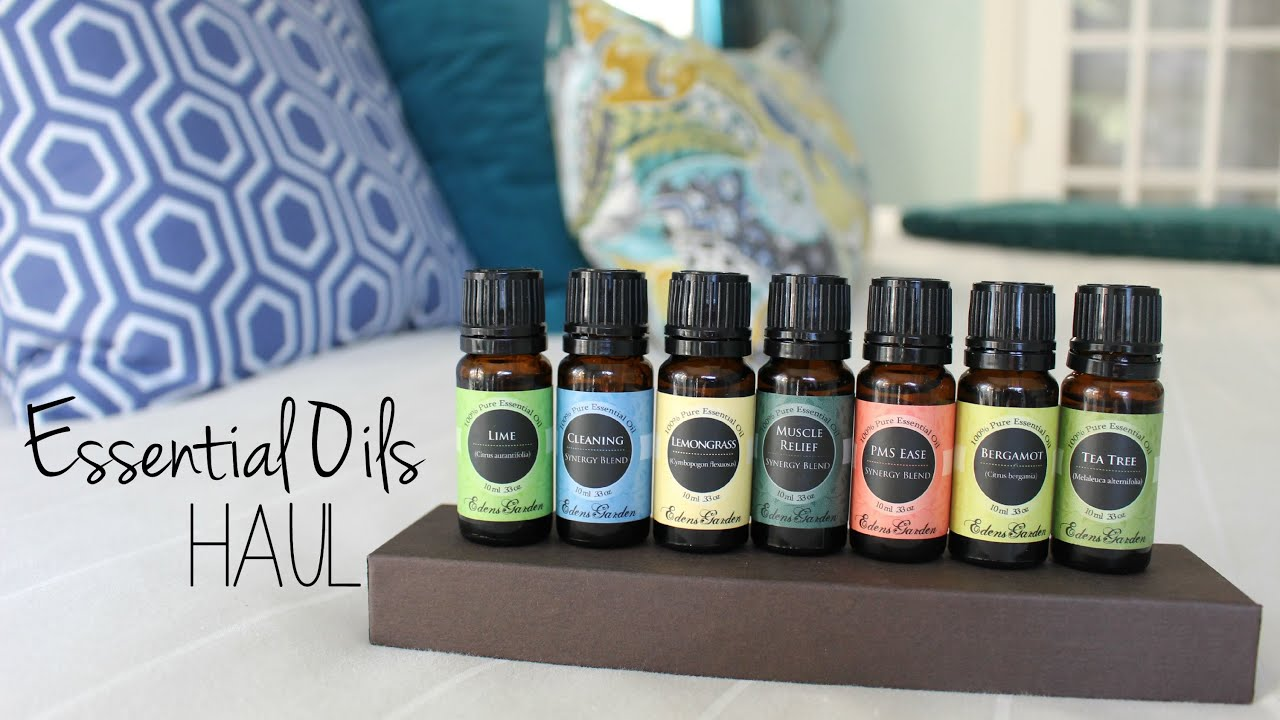 Essential Oils Haul Edens Garden YouTube