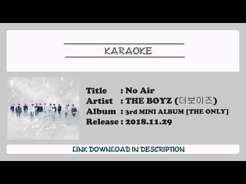 [KARAOKE] THE BOYZ (더보이즈) - No Air