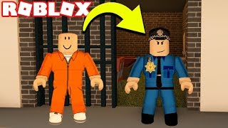 DISGUISING MYSELF AS A POLICE OFFICER! TROLLING COPS! | Roblox Jailbreak