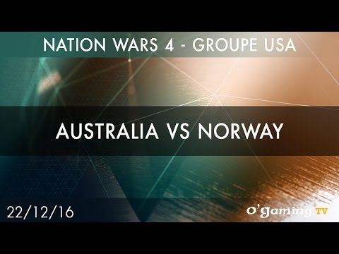 Australia vs Norway - Nation Wars 4 Groupe USA - Starcraft II - FR