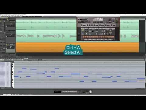 Аудио в миди в Samplitude при помощи Melodyne