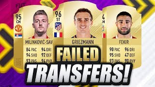 TRANSFERS THAT HAVE ALREADY FAILED!!