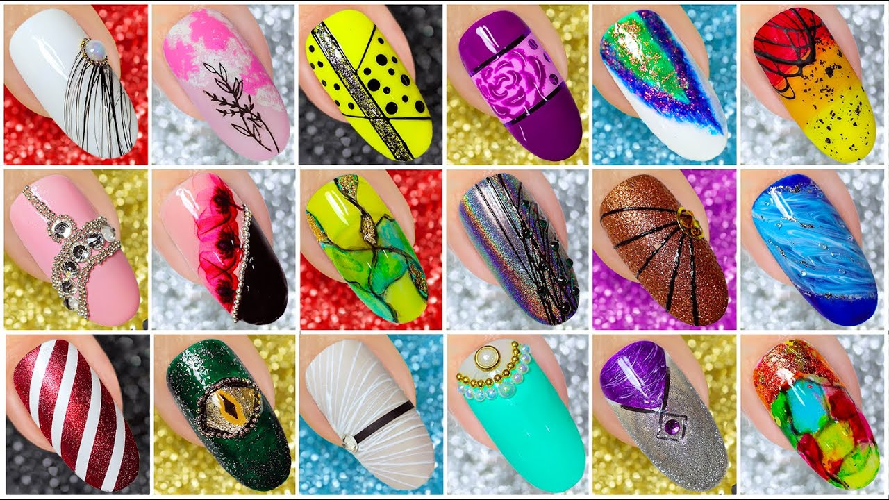 Easy And Cute 50 Nail Art Design 2020 Compilation Simple Nails Art Ideas Compilation 215 Youtube