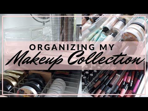 Organizing My Makeup Collection 2018 | Makeup Storage