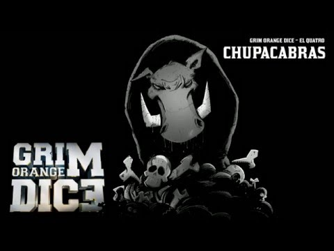 Grim Orange Dice - Chupacabras