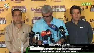 Venezuela - Primero Justicia ratificó que anuncios económicos profundizarán la crisis - VPItv