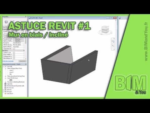 astuce revit 1 mur en biais inclin version 2018 2 youtube. Black Bedroom Furniture Sets. Home Design Ideas